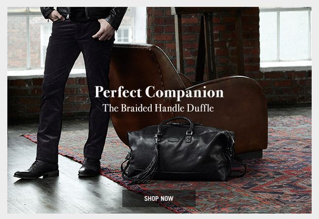 Perfect Companion - The Braided Handle Duffle