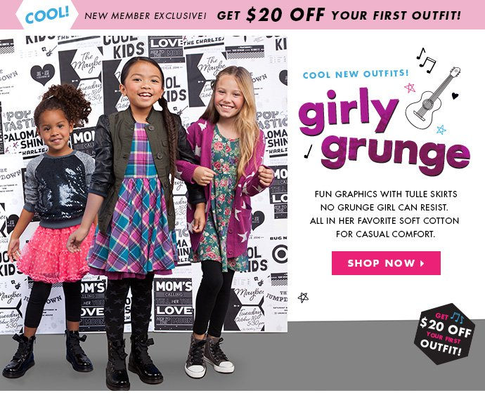 New Outfits For Girls! Get $20 Off Your First Outfit Today!