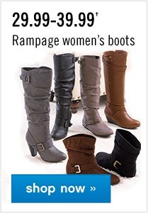 29.99–39.99 Rampage Women's boots. Shop now.