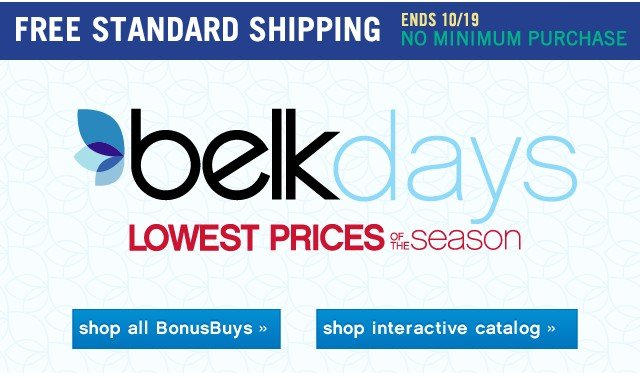 Belk Days Lowest Price of the Season