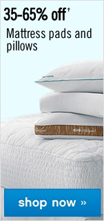 35-65% off Mattress pads and pillows