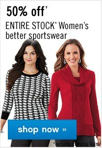 50% off Women's better sportswear. Shop now.