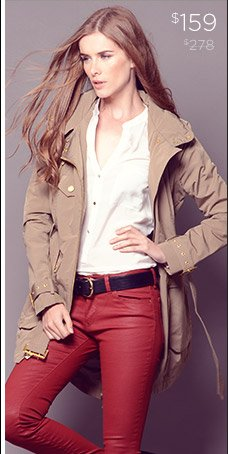 BCBGeneration Belted Trench Coat $159