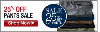 25% OFF Pants Sale - click the link below