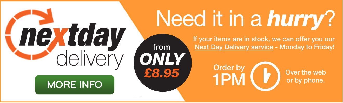 Need it in a hurry? NEXT DAT DELIVERY from only £8.95
