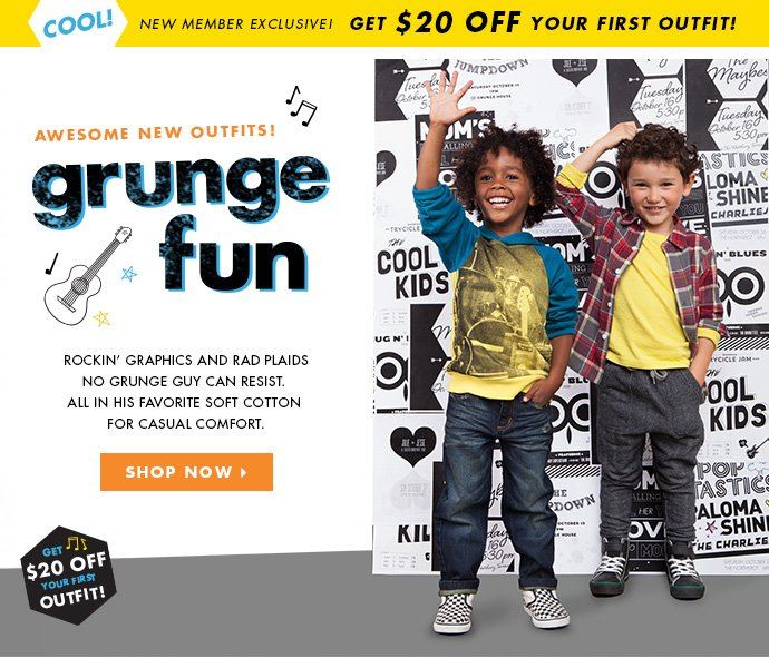 New Boys Outfits! Get $20 off your first outfit today!