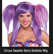 Circus Sweetie Berry Bubbles Wig