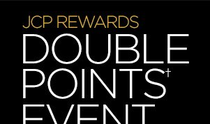 JCP REWARDS DOUBLE POINTS† EVENT Earn a $10 jcp reward  when you spend $50 or more on qualifying purchases in store and  online. 3 DAYS ONLY! OCT. 15-17 †Earn 2 points for every $1  spent on qualifying purchases.