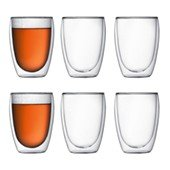 PAVINA Double wall Glass 35 cl, 6-pcs