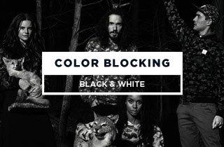Color Blocking Black & White