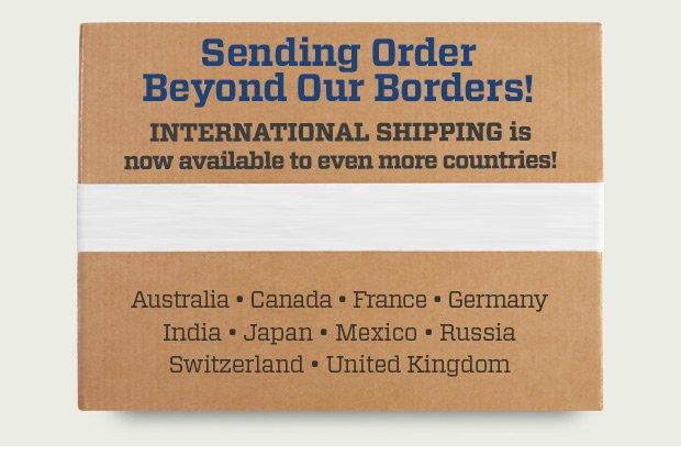 Sending  Order Beyond Our Borders! Sending Order Beyond Our Borders! Sending Order Beyond Our Borders