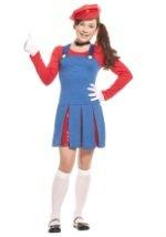 Girls Super Maria Costume