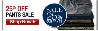 25% OFF Pants Sale - click the link below