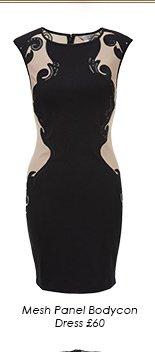 Mesh Panel Bodycon Dress