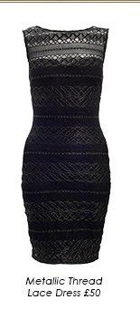 Metallic Thread Lace Dress