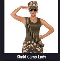 Khaki Camo Lady
