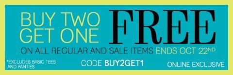 Plus, Buy 2, Get 1 Free - ONLINE EXCLUSIVE!