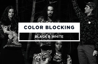 Color Blocking Black & White