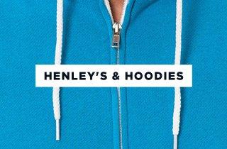 Henley's & Hoodies
