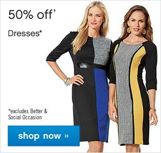 50% off Womens Dresses. Shop now.