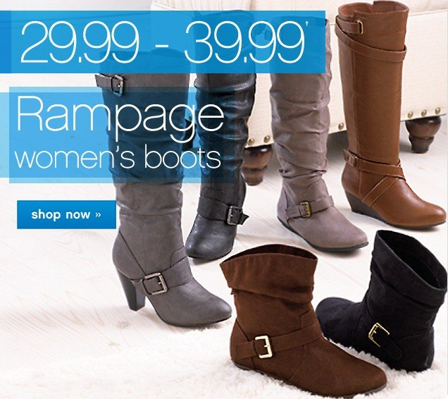 29.99 – 39.99 Rampage Womens Boots. Shop now.