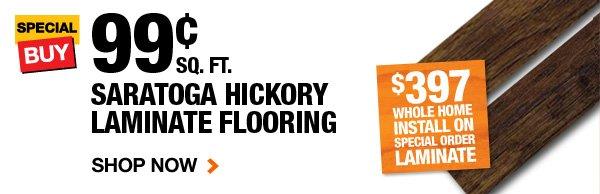 .99 sq.ft. Saratoga Hickory Laminate Flooring