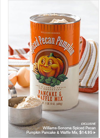 EXCLUSIVE - Williams-Sonoma Spiced Pecan Pumpkin Pancakes & Waffle Mix, $14.95