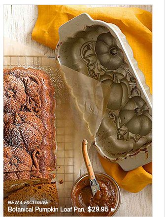 NEW & EXCLUSIVE - Botanical Pumpkin Loaf Pan, $29.95