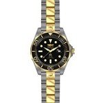 Invicta 15846 Men's Grand Diver Black Dial Two Tone Steel Bracelet Quartz Watch