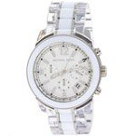 Michael Kors MK5766 Women's Preston White Dial Plastic & Steel Bracelet Chronograph Watch