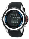 Pulsar PS7001 Men's Tech Gear Black Digital Dial Watch