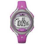 Timex T5K722 Women's Ironman Road Trainer Heart Rate Grey Dial Pink Rubber Strap Digital Watch