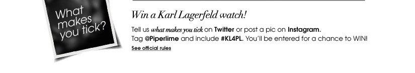 Win a Karl Lagerfeld watch!