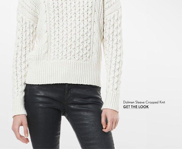 Dolman Sleeve Cropped Knit