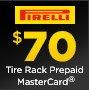Pirelli $70 Prepaid MasterCard by mail