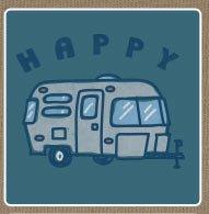 Men's Tee Happy Airstream Camper