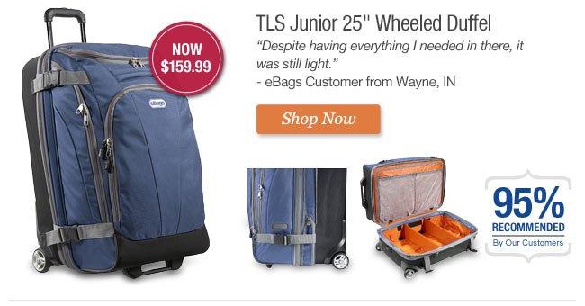 TLS Junior 25 inch Wheeled Duffel. Get it Now.