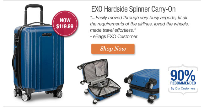 EXO Hardside Spinner Carry-On. Get it Now.