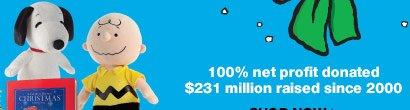 100% net profit donated. $231 million raised since 2000.