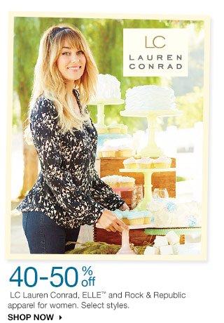40-50% off LC Lauren Conrad, ELLE and Rock & Republic apparel for women. Select styles. SHOP NOW