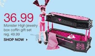 36.99 Monster High jewelry box coffin gift set reg. 49.99