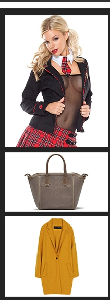 Buy-Sexy-Costumes, bags and outerwear
