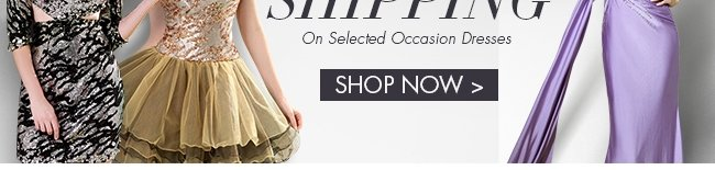 shop now Free Shipping on select occasion dreses