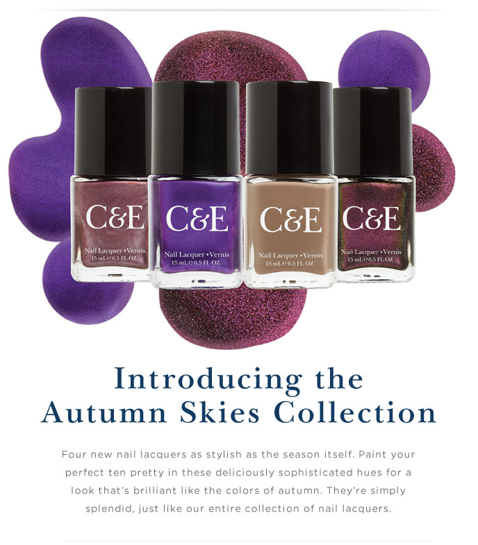 Introducing the Autumn Skies Collection. Shop Now.
