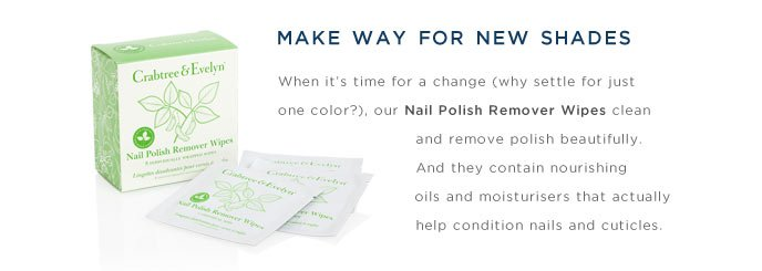 Nail Polish Remover Wipes. Shop Now.