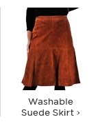 Washable Suede Skirt