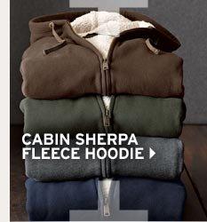 Shop Men's Cabin Sherpa Fleece Hoodie