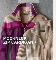 Shop Solid Mockneck Zip Cardigan