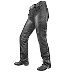 Xelement Women's Dakota Black Leather Chaps