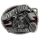 LIVE TO RIDE - RIDE TO LIVE Buckle